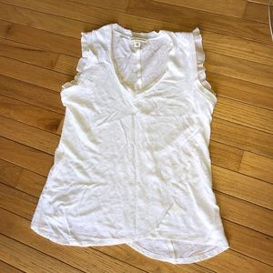 Banana Republic White Sleeveless Top - Small